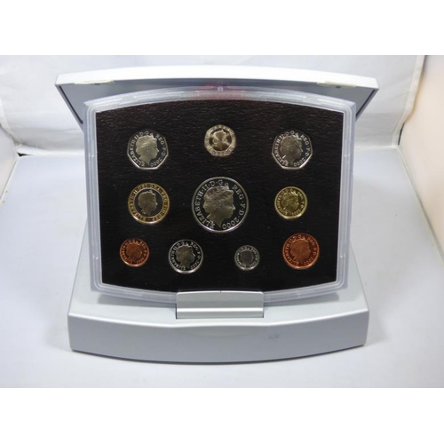129 - Royal Mint 2000 United Kingdom executive proof set- Coins for the new millennium- in presentation bo...
