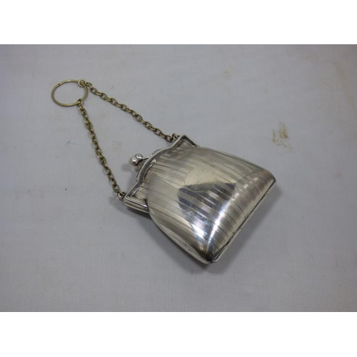 137 - Chatelaine Silver Plated Purse circa 1920...