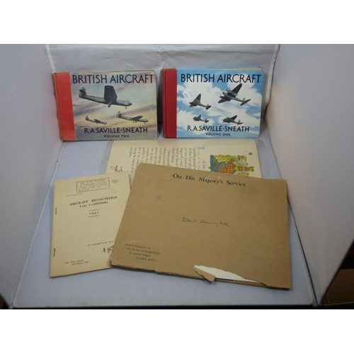 139 - Collection of ephemera to include Military and two aircraft books...