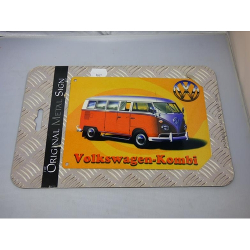 142 - Metal camper van sign...