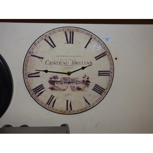 158 - Chateau Joullian Style Wall Clock...