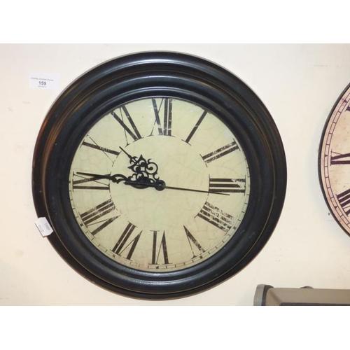 159 - Retro Style Circular Wall Clock...
