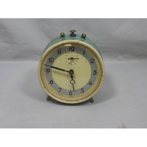 16 - Retro powder blue comet alarm clock...