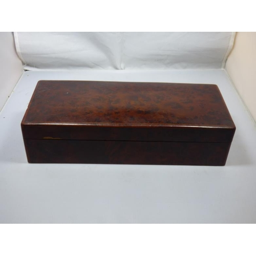 168 - Veneered cigar box...