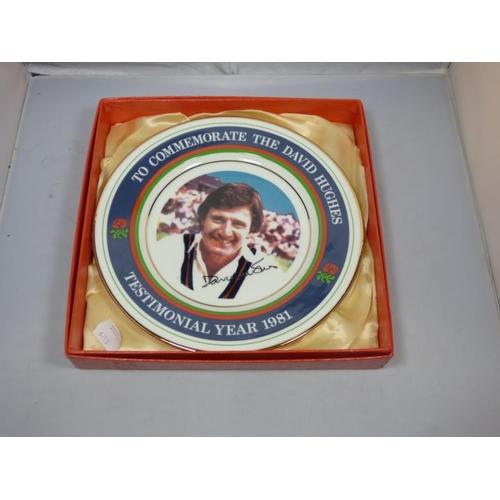175 - David Hughes testimonial plate...