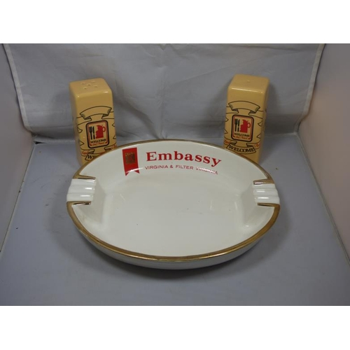 181 - Retro ashtray and condiments...
