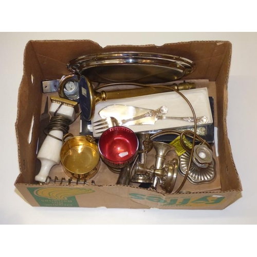 183 - Mixed lot including candle holders, knives and other...