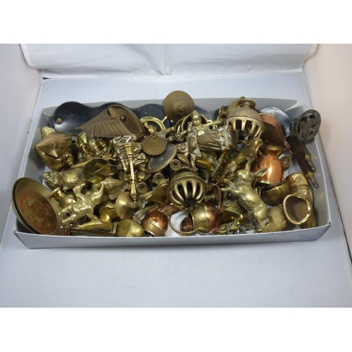 184 - Large selection of small size brass and copper items...