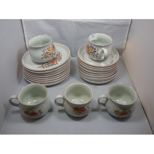 192 - Thirty two piece Denby Summer fields Tea/dinner set...