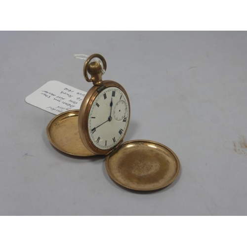 22 - Warrented English Dennison Star Case Pocket Watch Full Hunter 16 Jewels circa 1912...