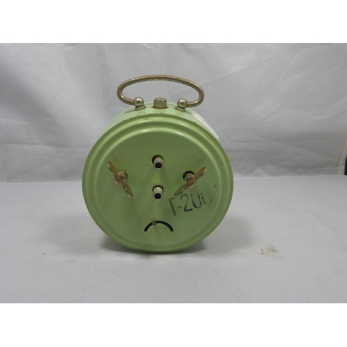 26 - Retro original pale green metal