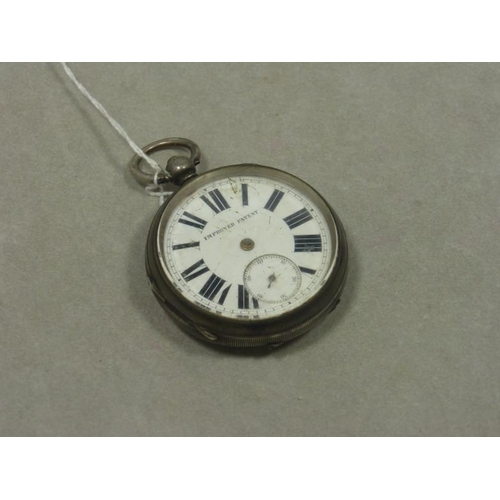 29 - Manchester Fusee Pocket Watch Silver Cased circa 1894...