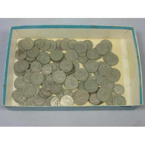 33 - Large collection of Vintage British Silvered coinage...