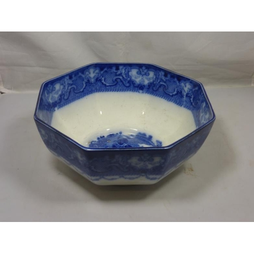 39 - Watteau Antique Blue and White Bowl...