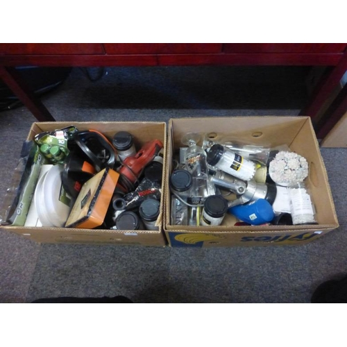 400 - Two Mixed lots includes drill, poker set, tile spacers and other...