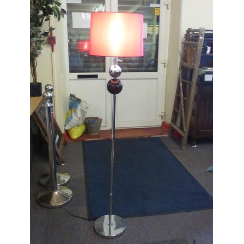 403 - Modern standard lamp with dark pink shade...