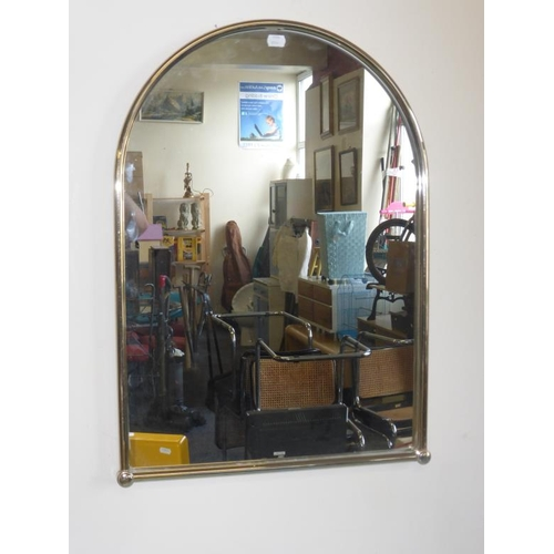 409 - Gilt framed arched mirror...