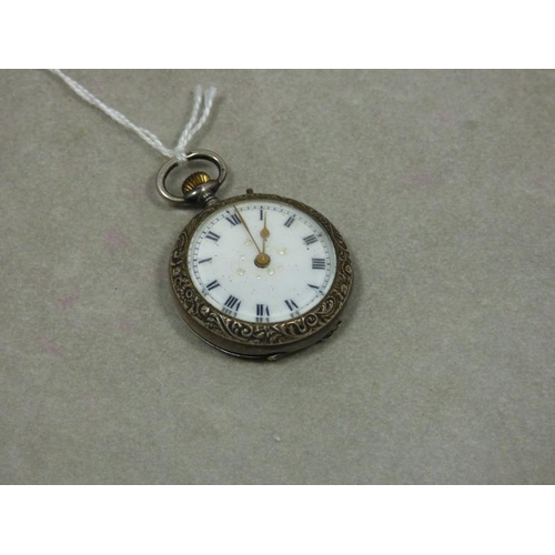 41 - Silver 925 Cased Keyless Wind Fob Watch...