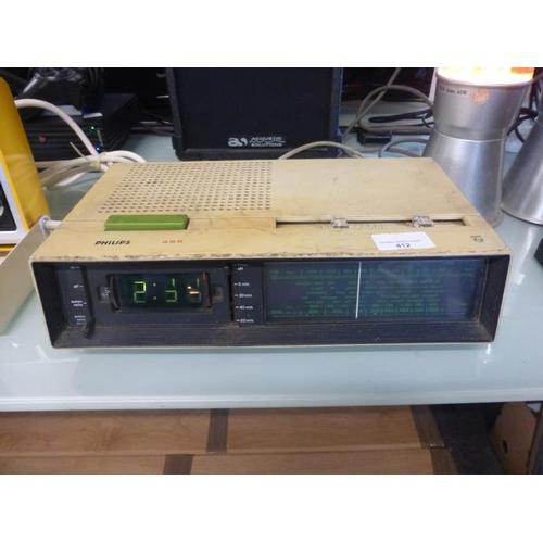412 - Retro Phillips Radio alarm clock...
