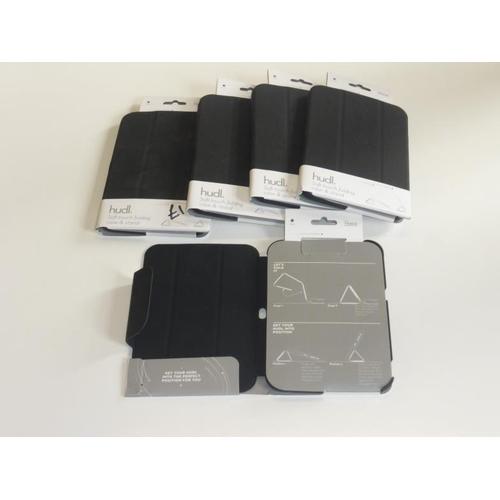 424 - Five black hudl cases...