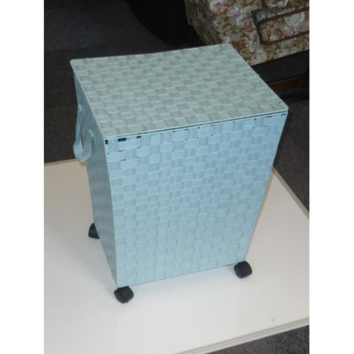 441 - Wheeled fabric laundry basket...
