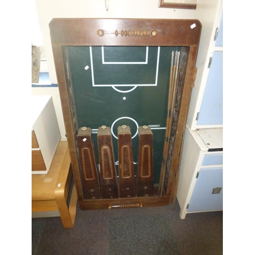 445 - Vintage wooden football table...