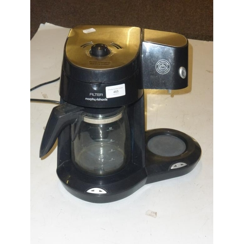 465 - Morphy Richards filter Coffee Machine with Milk frother...