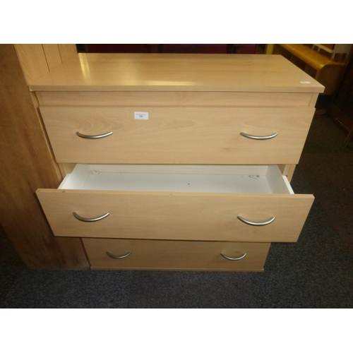 476 - Four drawer modern chest of drawers...