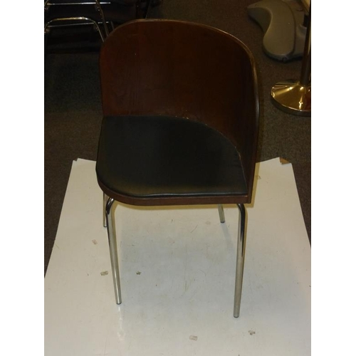 504 - Four retro corner style chairs...