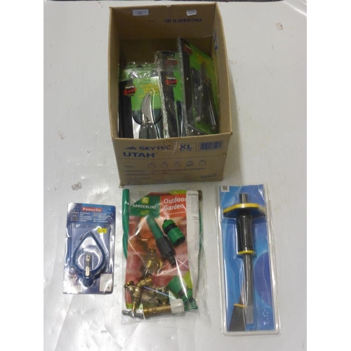 507 - Large selection of garden tools and other...