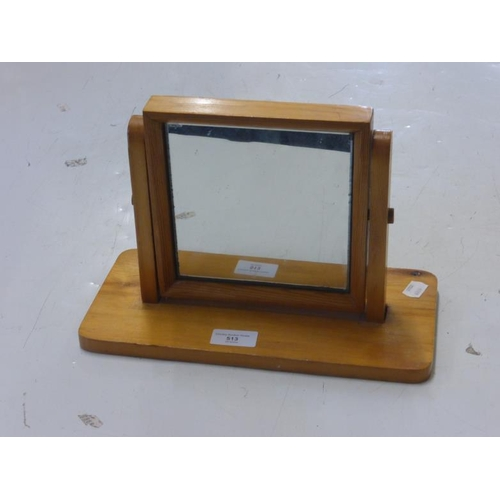 513 - Pine Framed Dressing Table Mirror...