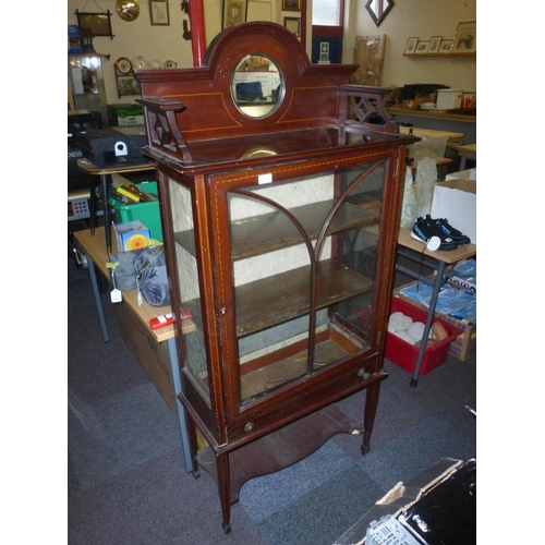 518 - Retro glass fronted display cabinet A/F...