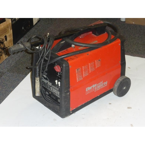 528 - Clarke Mig 130EN Turbo fan cooled dual purpose Welder...