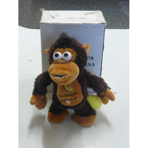 543 - Novelty interactive monkey with removable Banana...