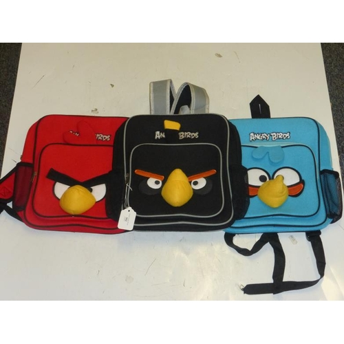 562 - Three Angry Birds back packs...