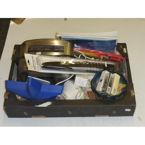 564 - Mixed lot including big spoon, toaster and other...