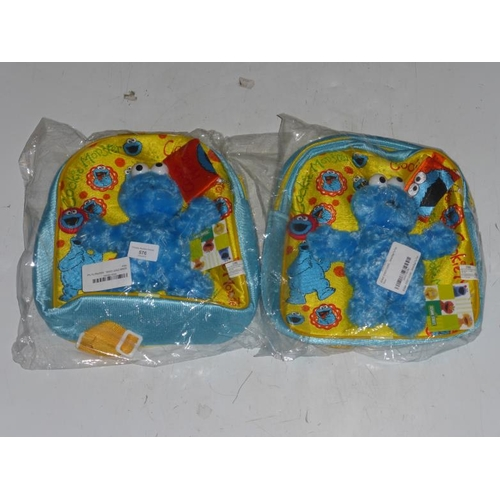 576 - Two Cookie monster back packs...
