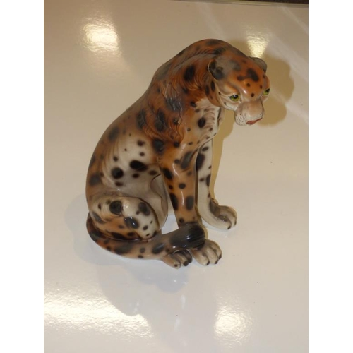 68 - Large ceramic cheetah...