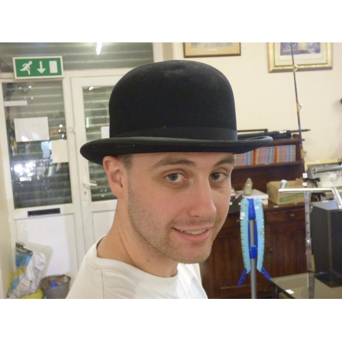 73 - Moores and Sons of London vintage Bowler Hat