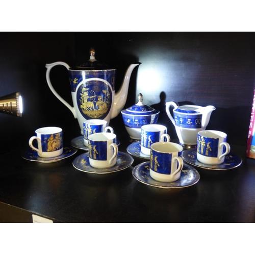 75 - Egyptian fine Royal Porcelain Coffee set...