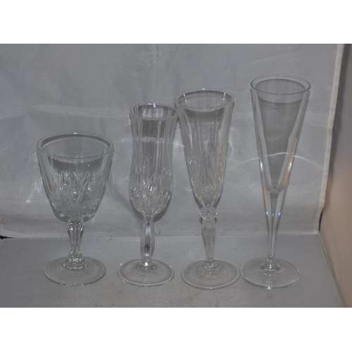 87 - Selection of cut glass glasses...