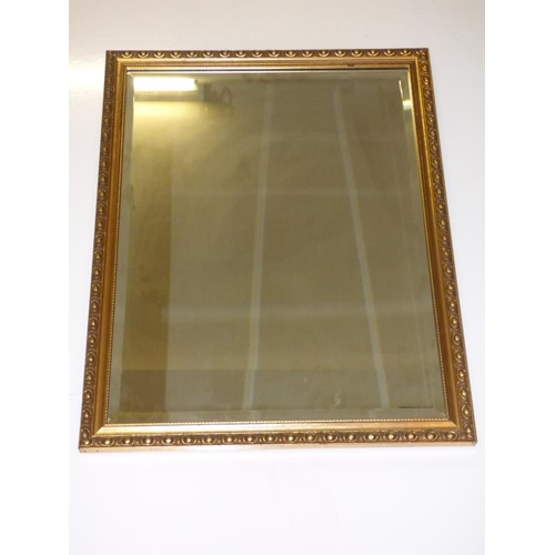 194 - Gilt framed bevel edged mirror...