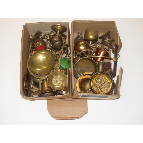 201 - Large selection of brass and copper items...