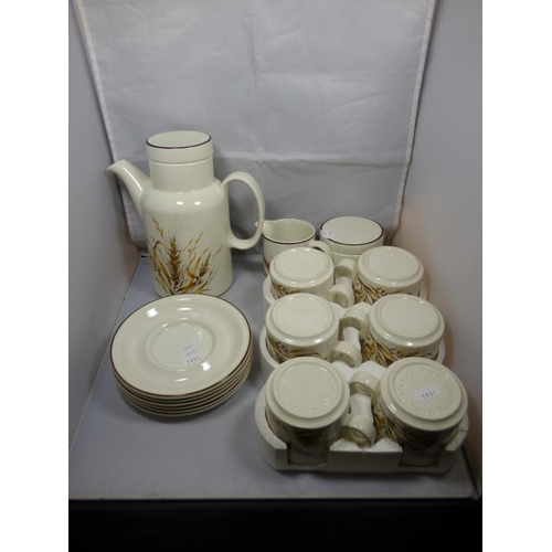 208 - Barratts Barley corn tea set...