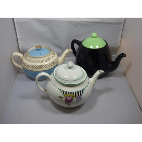 210 - Three vintage tea pots...