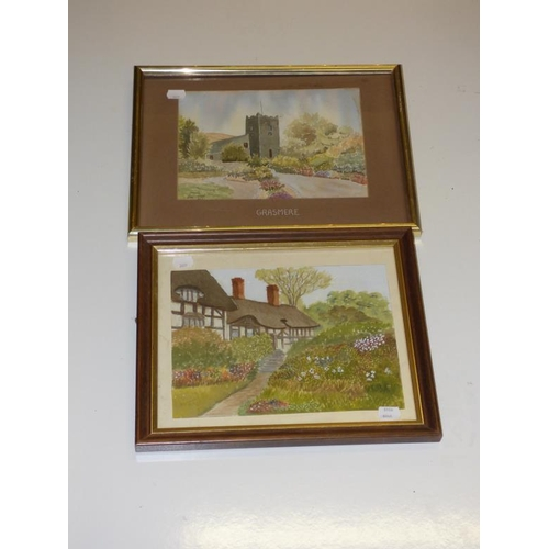 211 - Two Framed Watercolors...
