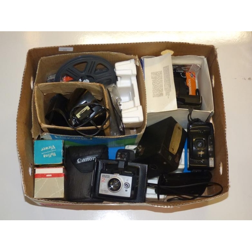 214 - Large collection of antique and vintage camera's and media equipment...