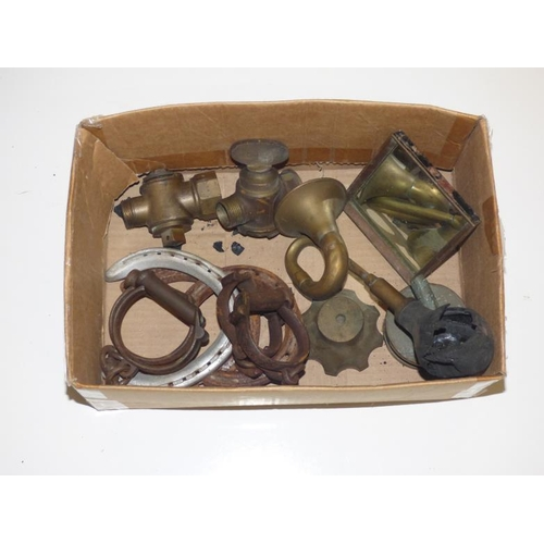 216 - Vintage Mixed Lot including Handcuffs, Horn, Valves and Mirror...