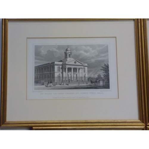 217 - Four exceptional quality gilt framed and glazed prints of vintage London...