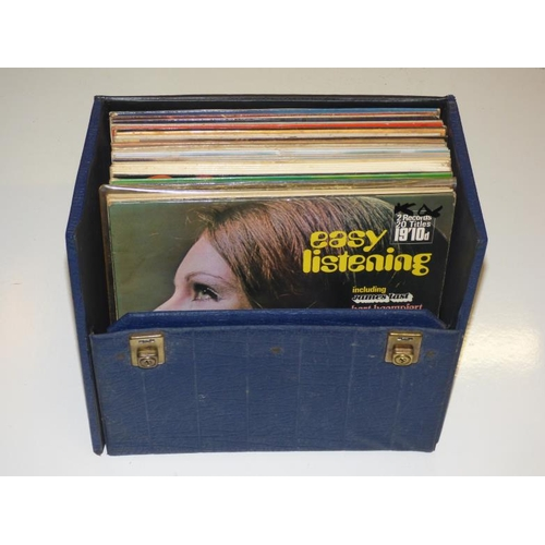 219 - Record case with contents...
